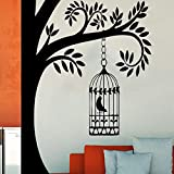 zhuziji Plus Size Nero Nuovo Albero Stickers Murali Stickers murali Albero Namaste Adesivo in Vinile Decal Yoga Studio Gym Decor Casa Mur Rosso 58x58cm