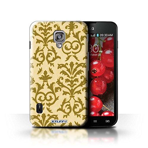 Kobalt® Imprimé Etui / Coque pour LG Optimus L7 II Dual / Vert conception / Série Motif de défilement Jaune