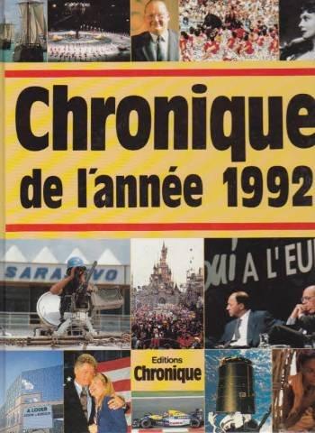 Chronique de l'année. : Chronique de l'année 1992