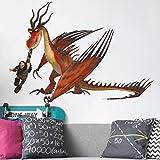Bilderwelten Wandtattoo Dragons Rotzbacke und Hakenzahn, Sticker Wandtattoos Wandsticker Wandbild, Größe: 70cm x 100cm