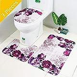 AOLVO 3piezas baño alfombra Juego de alfombras para, antideslizante...