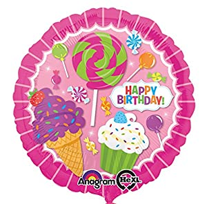 Amscan International 3161501 Sweet Shop - Globo de Papel de Aluminio para cumpleaños
