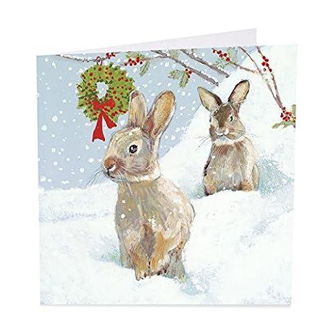 Lot de 6de cartes de Noël caritatives (ab5461) Motif Holly Berries–Abri en aide de