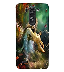 ColourCraft Butterfly Girl Design Back Case Cover for LG G3 BEAT