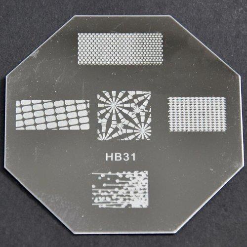Nail Art emboutissage des tôles - HB31 CODE : HB31-plaque