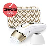 Braun IPL Silk Expert Pro 5 PL5137 Generation IPL, Permanent Visible Laser Hair Removal for Women and Men with Deluxe Pouch, Venus Razor and Precision Head, White and Gold