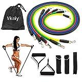 Vkaiy Bandas Elásticas Resistencia, Elásticas de Resistencia para Ejercicios Físicos Fitness Entrenamiento Crossfit (Material de látex Natural, Vario Nivel Resistencia) (Style 02)