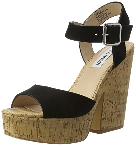 Steve Madden Ladies Leighton Sandal Open Black (nero)