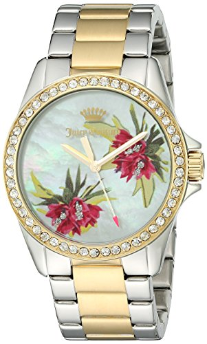 Juicy Couture Women's Laguna Quartz Silver and Gold and Stainless Steel Casual Watch, Color:Two Tone (Model: 1901425)