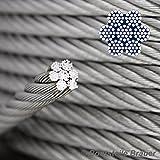 10Meter Stainless Steel Wire Rope 7x19Diameter 2mm–A4Stainless Steel Wire Rope