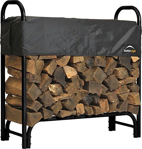ShelterLogic ShelterLogic Backyard Aufbewahrung Serie verdeckt Brennholz Rack schwarz 4Füße 4-ft schwarz