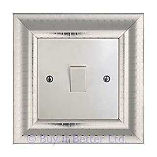 Switch Surround Frame Cover Finger Plate Verona Silver Chrome Stripe Effect