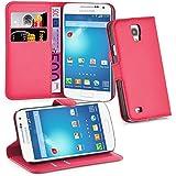 Cadorabo - Book Style Hülle für Samsung Galaxy S4 ACTIVE (I9295) - Case Cover Schutzhülle Etui Tasche mit Standfunktion und Kartenfach in KARMIN-ROT