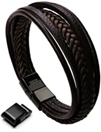 Murtoo Acier inoxydable Bracelet Multi Tissé De Promesse Pour Couples Et Les Amoureux avec L'Affection