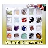Jovivi 20 Gemstones Chakra Stone Healing Balancing Kit for Collectors, Crystal & Reiki Healers and Yoga Practioner