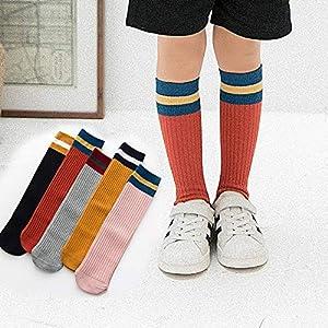 RUOHAN Kinder Socken 5 Paar In Strümpfen Weibliche Koreanische Version Von Collegewind Herbst Und Winter Studentensocken Aus Baumwolle DREI Bars Sportsocken Kindersocken
