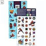 DURABO Lot de 2 Planches de Stickers Autocollants , modèles au Choix, Format 20 x 10 cm (Spider Man Marvel)