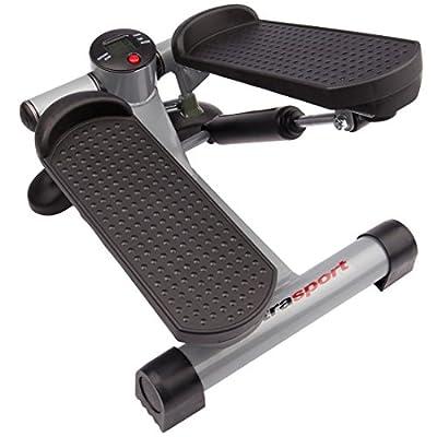 Ultrasport Up-Down-Stepper für Fitness und Aerobic, Ministepper mit Trainingscomputer und großen Trittflächen, Heimtrainer für Bauch Beine Po Training, Fitness Stepper für zuhause und Büro