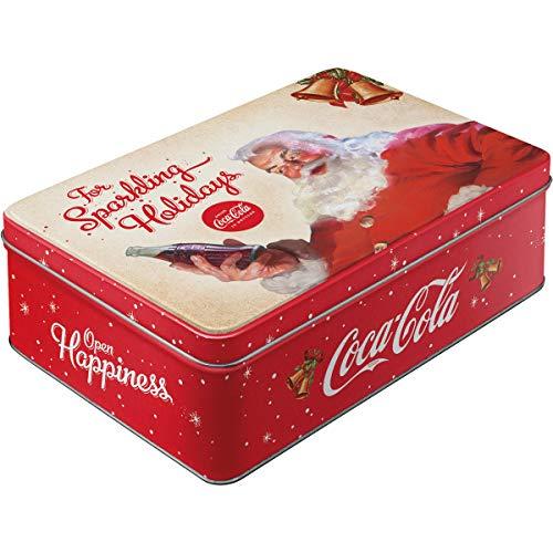 Nostalgic-Art 30732 Coca-Cola - For Sparkling Holidays, Vorratsdose Flach -