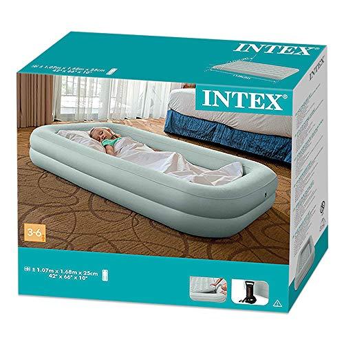 Intex 12-66810NP Kidz Travel Bed Set, phthalates-free mit Handpumpe, 107 x 168 x 25 cm (Mint Grün) - 3