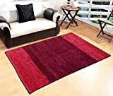 #9: Yellow Weaves Maroon-Wine Feather Touch Carpet - 3 X 5 Ft