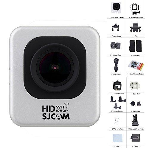 SJCAM M10 Kit Wifi Sports Camera Full HD 1080P Mini DV Silver With EACHSHOT Cleaning Cloth