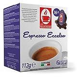 Lavazza A Modo Mio ® ECCELSO Kaffee | 100% Robusta | TIZIANO BONINI (16 Kapseln kompatible) alternative Kaffeekapsel Caffè Bonini Italien Espresso Cappuccino Café Crème, Latte Macchiato dunkle Röstung
