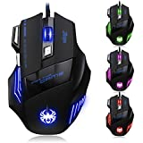 DLAND® ZELOTES 7200DPI 7 Tasten USB Wired Gaming Maus für Pro Gamer