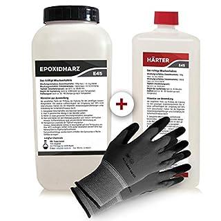 Epoxidharz mit Härter | 3,25kg GfK set | Profi Qualität glasklar & geruchsarm | Gießharz für Holz + Schutzhandschuhe