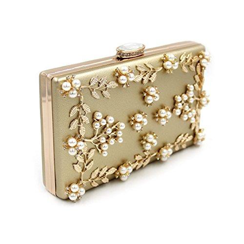 Flada , Damen Clutch silber silber M gold