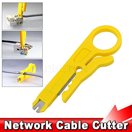 Ryrty(TM) Hight Qualit?t Rotary Anlege Netzwerk UTP Kabelschneider Stripper RJ45 Cat5 RJ12 RJ11 CAT-5e CAT-6-Kabel Punch-Down-Wire Tool (Rotary Wire Cutter)