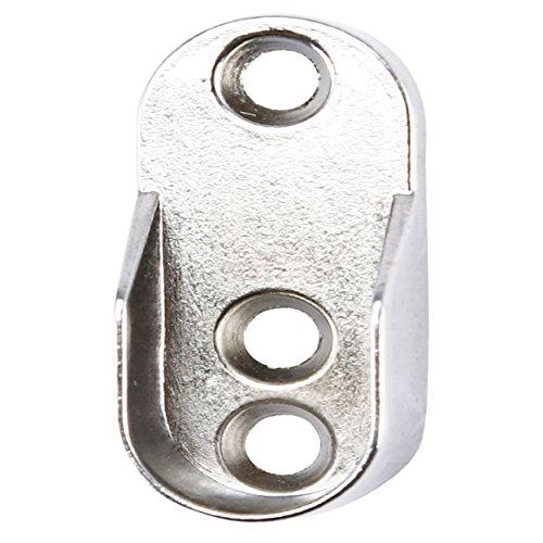 Protenrop 2907148 - Soportes para barra de armario, extremo, oval, color metalizado