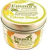 Naturel en cire de soja Tin Bougie avec Orange douce, Pamplemousse, Citron et citron vert huiles essentielles par Emma à Plus de Naturals