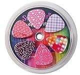 Filles Douces Médiators pour Guitare - pour enfant et filles - Celluloïd - Lot de 12 - couleur Rose - par NewEights