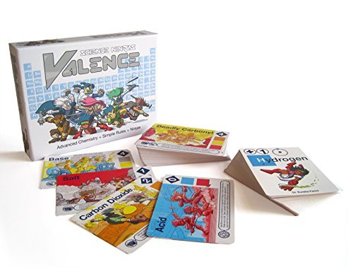 Science Ninjas Valence Card Game- Advanced Chemistry Simple Rules Ninjas Teach Kids How Molecules Form and Chemicals Interact