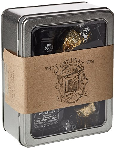 The Gentleman's Whiskey & Cigar Tin - Jack Daniels, Lindt, Black Magic - Perfect Gift For A Gentleman, Father's Day Present - By Moreton Gifts.