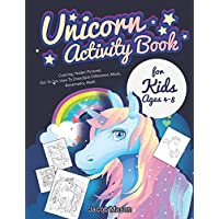 Unicorn Activity Book for Kids Ages 4-8: Coloring, Hidden Pictures, Dot To Dot, How To Draw, Spot Difference, Maze, Bookmarks, Mask (Unicorn Game)