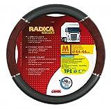 Lampa LkW-Lenkradschoner Radica Premium schwarz-wurzelholz 44