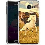 Samsung Galaxy A3 (2016) Housse Étui Protection Coque Cheval blanc Étalon Jument mustang
