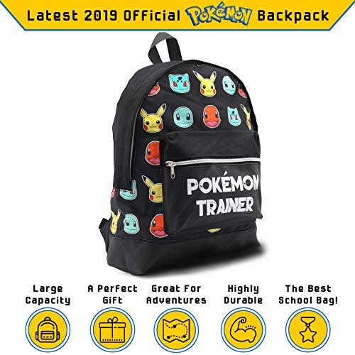 diversamente 579d8 126e5 Zaino Pokemon Scuola Elementare Zaini Porta Computer con Pikachu Bulbasaur  Charmander