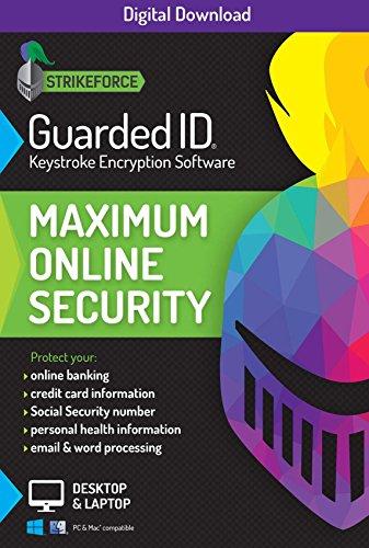 StrikeForce Technologies GuardedID Keystroke Encryption Software | 2 Geräte | 1 Jahr | PC, Mac [Download Code] [Online Code] (Software Keystroke)