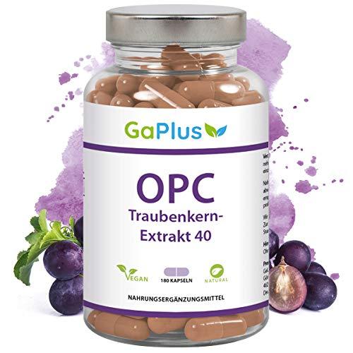 OPC Traubenkernextrakt 40 - aus original französischen Trauben. 280mg reines OPC pro Tagesdosis. + dünnes Blut - Heuschnupfen + Wundheilung, 180 Kapseln - Hergestellt in Deutschland