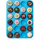 ZTSY 24 Cavity Mini Muffin Cup Silicone Cookies Cupcake Bakeware Pan Soap Tray Mould