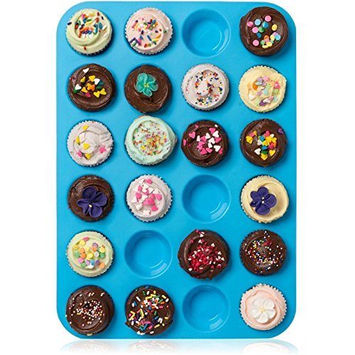 ztsy 24�Mulden Mini Muffin Cup Silikon Cookies Cupcake Bakeware Pfanne Seife ... Mini-muffin-pan-cookies