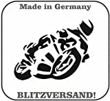 Dinger-Design Motorrad Aufkleber Silhouette Kawasaki Biker Auto Bike Sticker Yamaha Suzuki
