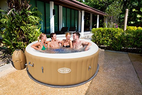 Lay-Z-Spa Palm Springs Inflatable Portable Hot Tub Spa, 4 – 6 Person