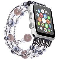 Apple Watch Armband , ANGGO iwatch Strap Mode Elastische Stretch Ersatz Armbanduhr Armband Gürtel Uhrenarmbänder für Apple Watch Serie 3 Serie 2 Serie 1 Alle Version