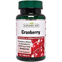 Natures Aid Cranberry 200mg (equivalent to 5000mg of fresh cranberries), 90 Tablettes. Suitable for Vegans. preisvergleich bei billige-tabletten.eu