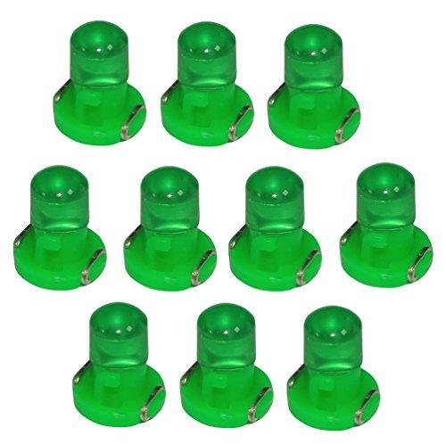 Aerzetix: 10x ampoules T3 LED 12V lumière verte pour tableau de bord