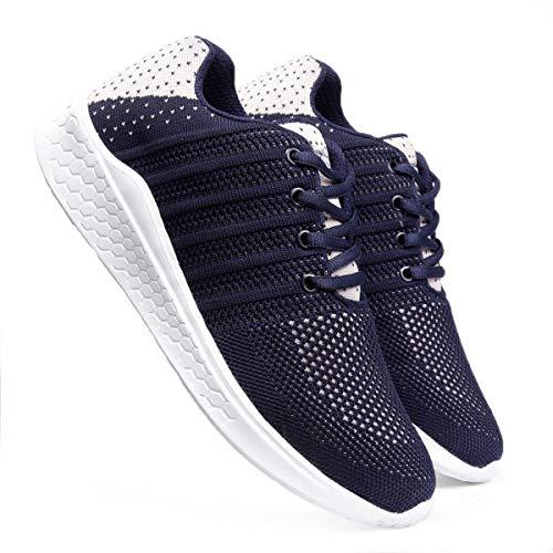 meriggiare® Women Fashion Sneakers Lightweight Sport Gym Jogging Casual Walking Air Cushion Athletic Tennis Running Sports Shoes-Blue